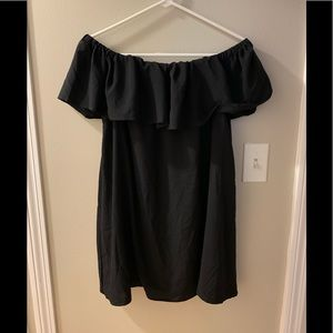 French Connection Off the shoulder black dress